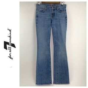 Seven 7 For All Mankind Bootcut Blue Jeans
